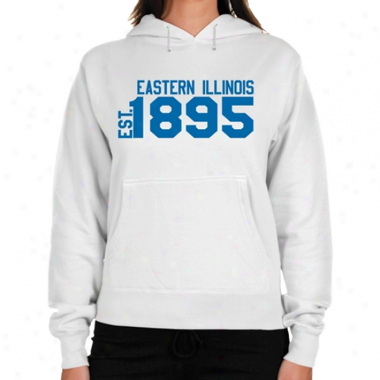 Eastern Illinois Panthers Ladies White Est. Date Lightweight Hoody