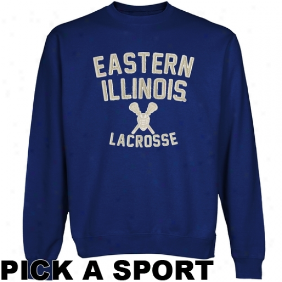 Eastern Illinois Panthers Legacy Crew Neck Fleece Sweatshirt - Royal Blue