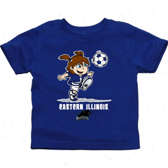 Easetrn Illinois Panthers Toddler Girls Soccer T-sshirt - Magnificent Blue