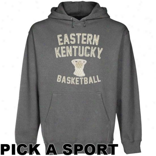 Eastern Kentucky Colondls Legacy Pullover Hoodie - Gunmetal