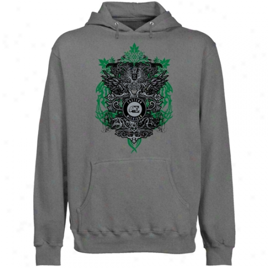 Eastern Michigan Eagles Gunmetal Shield Of Arms Lightweight Pullover Hoody