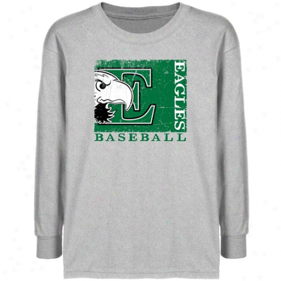 Eastern Michigan Eagles Youth Ash Sport Stamp T-shirt