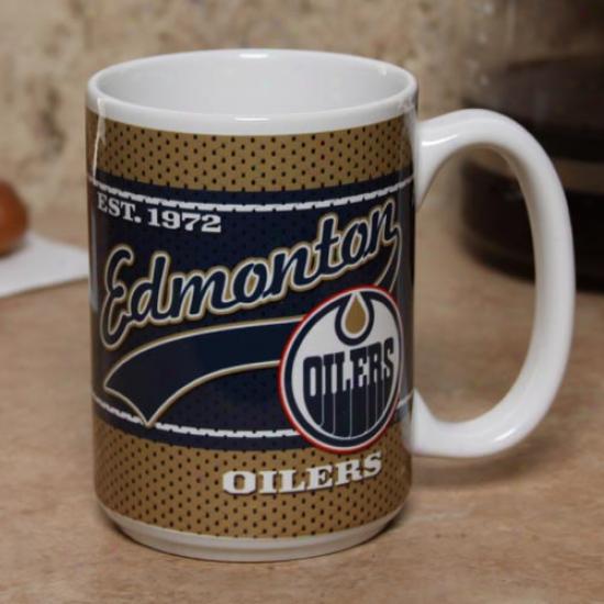 Edmonton Oilers 15oz. Ceramic Jersey Mug