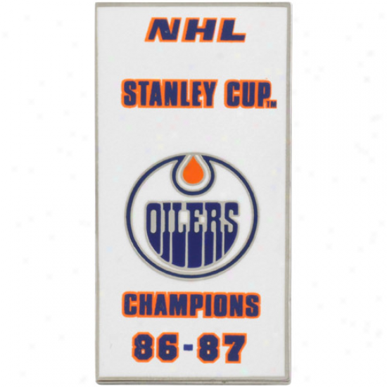 Edmonton Oilers '86-'87 Stanley Cup Champs Banner Pin
