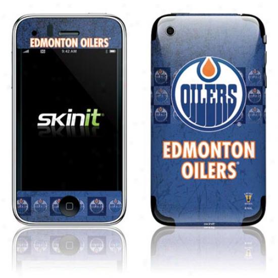 Edmonton Oilers Bleu Vintage Iphone 3g/gs Skin