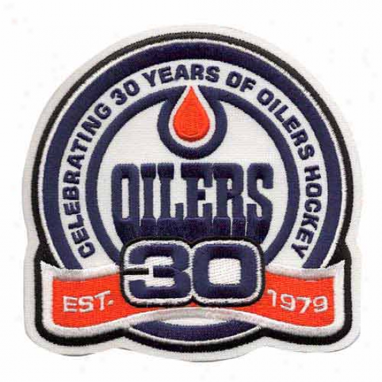 Edmonton Oilers Embroidered 30th Anniversary Collectible Patch