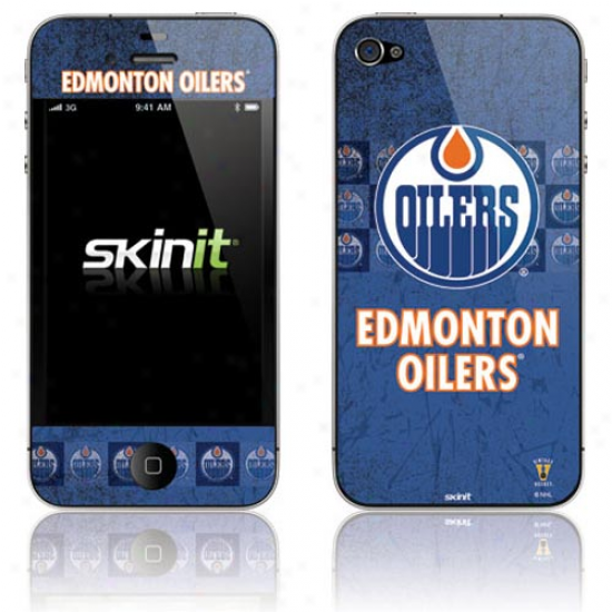 Edmonton Oilers Royal Blue Vintage Iphone 4 Skin