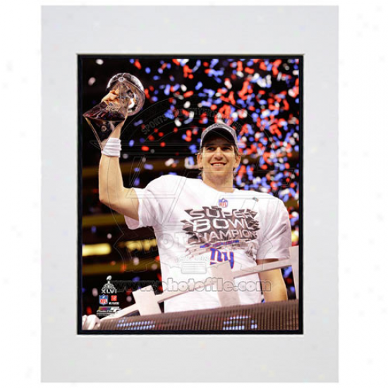 """eli Manning New York Giants Super Bowl Xlvi Champions 11"""" X 14"""" Matted Trophy Pyoto"""