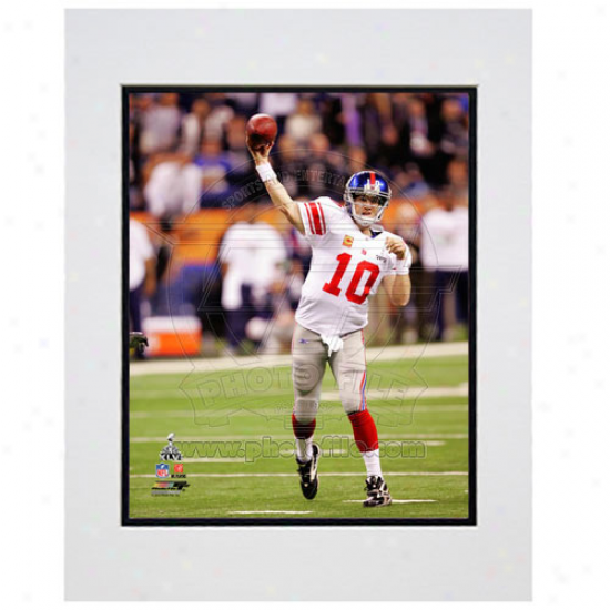 """eli Manning New York Giants Super Bowl Xlvi Champions 11"""" X 14"""" Matted Passing Photo"""