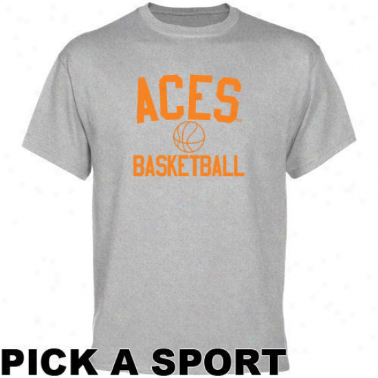 Evansville Purple Aces Ash Custom Sport Icon T-shirt -
