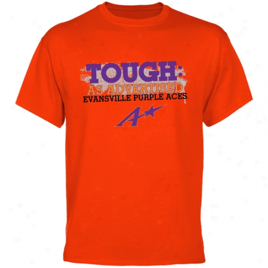 Evansville Purple Aces Orange As Advertised T-shirt
