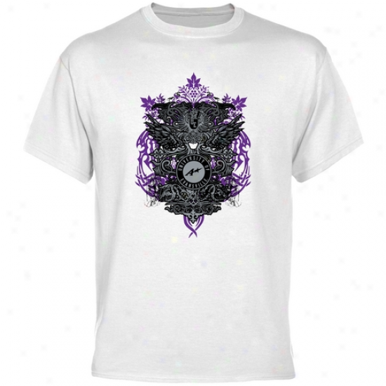 Evansville Purple Aces White Shield Of Ams T-shirt