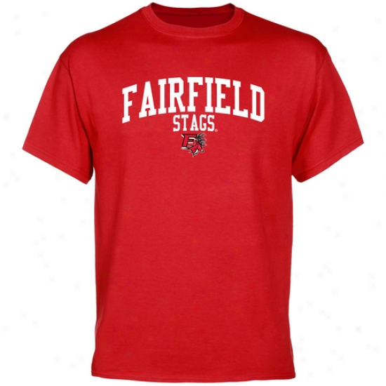 Fairfield Stags Team Vault T-shirt - Cardinal