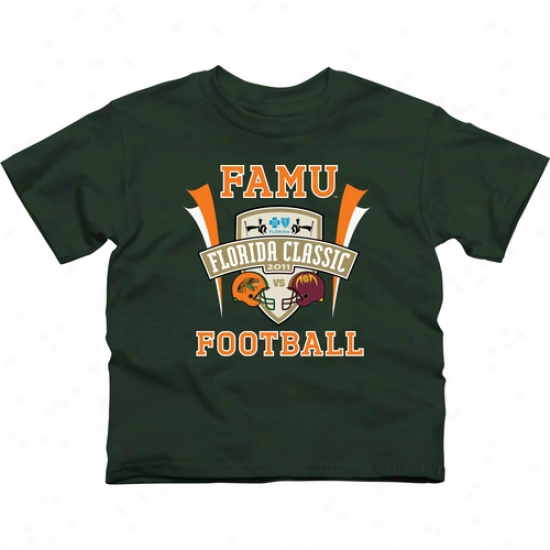Famu Rqttpers Youth 2011 Florida Classic Logo T-shirt - Inexperienced