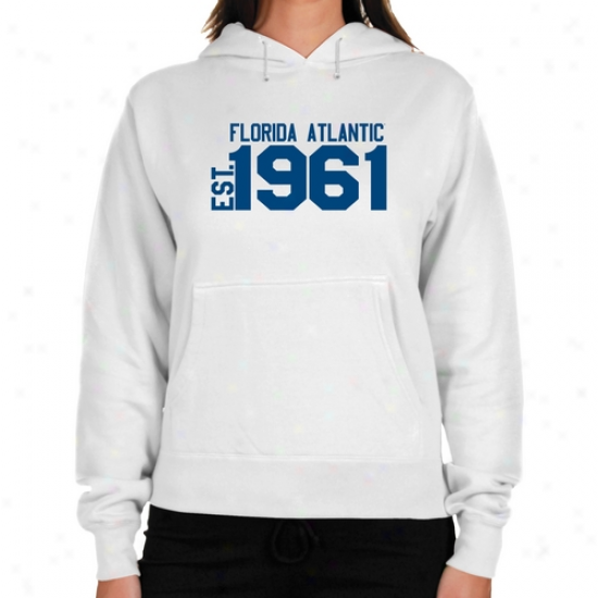 Florida Atlantic University Owls Ladies White Est. Date Lightweight Hoody