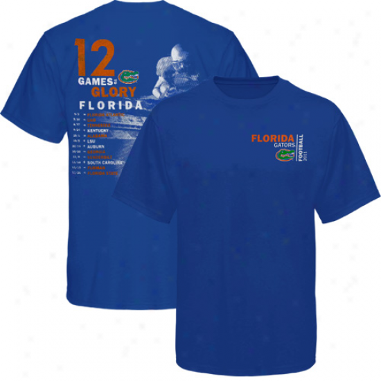 Florida Gators 2011 Football Schedule T-shirt - Royal Blue
