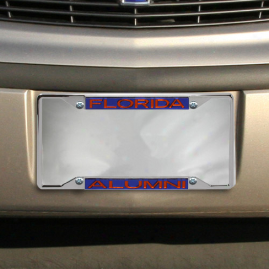 Florid aGators Alumni Chrome License Plate Frame