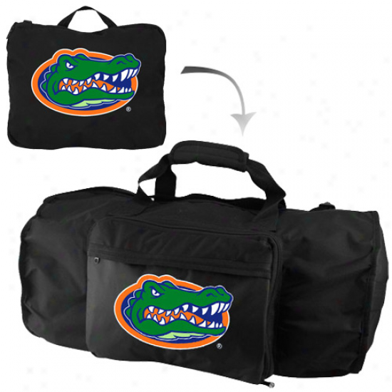 Florida Gators Black Fold-away Duffel Travel Collection