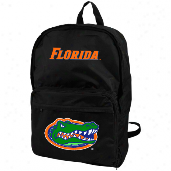 Florida Gators Black Foldaway Backpack