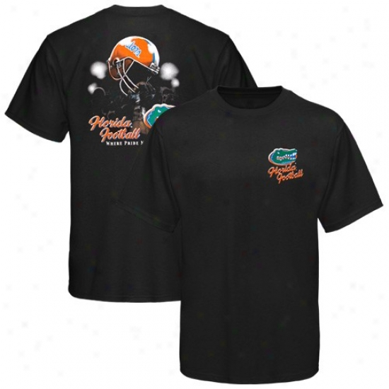 Florida Gators Black Helmet In Air T-shirt
