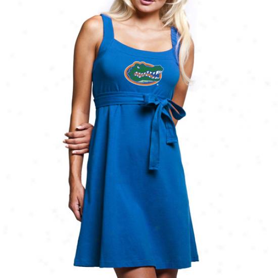 Florida Gators Ladies Royal Blue Campus Best Belted Sundress