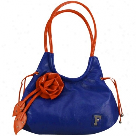 Florida Gators Ladies Royal Blue-orange All-american Flower Purse