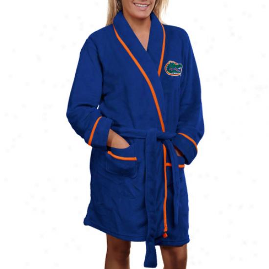 Florida Gators Ladies Noble Blue Solid Cozy Robe