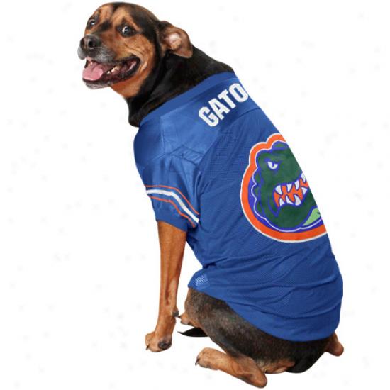Florida Gators Royal Blur Mesh Dog Jersey