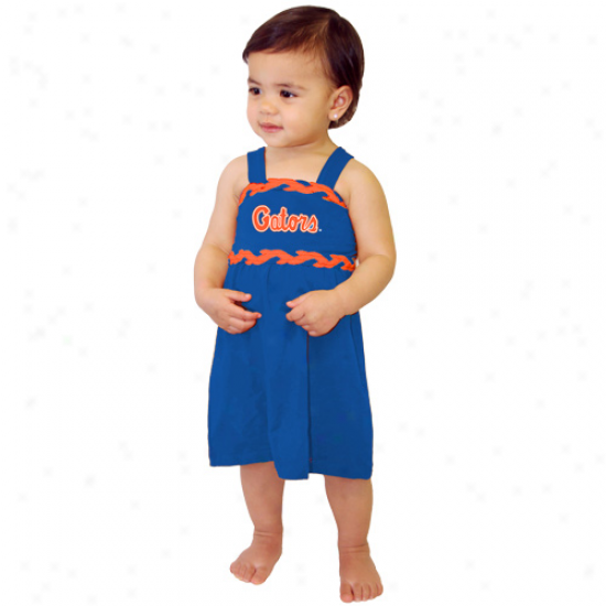 Florida Gators Toddler Royal Blue Braided Dream Dress