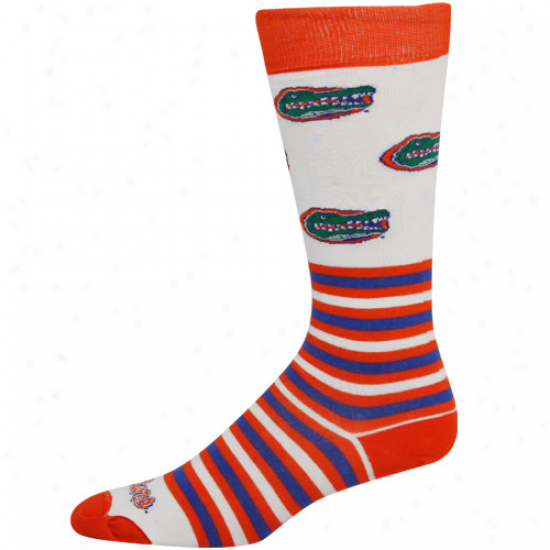 Florida Gators White Striped Logo Pipe Socks