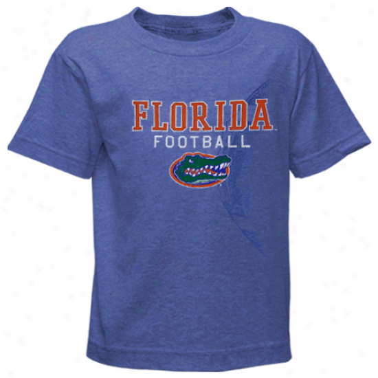 Florida Gators Youth Football Fade T-shirt - Royal Blue