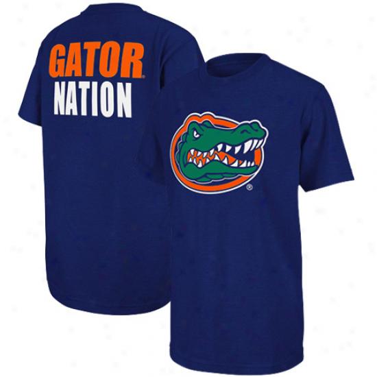 Florida Gators Youth Highlight Gator Nation T-shirt - Royal Blue