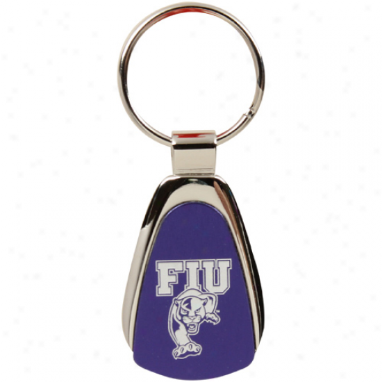 Florida International Golden Panthers Navy Livid Teardrop Keychain