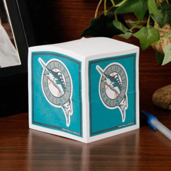 Florida Marlins Note Cube