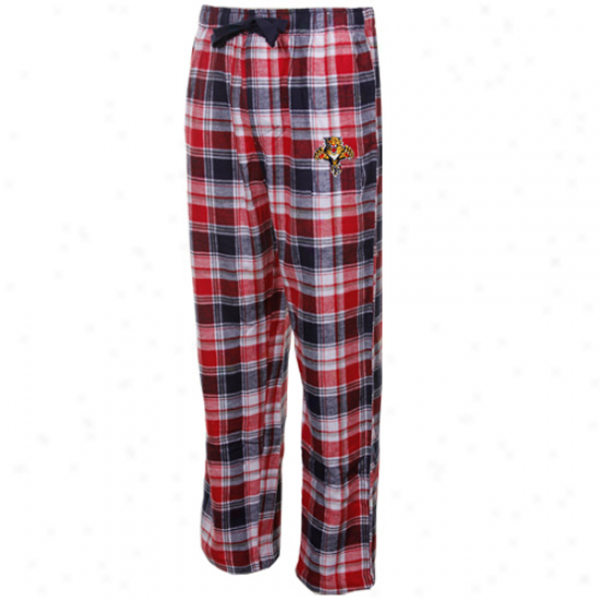 Florida Panthers Black-red Plaid Legend Flannel Pants