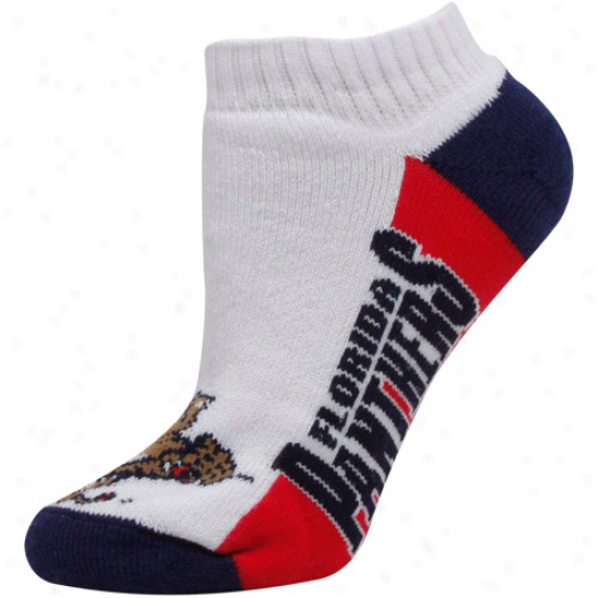 Florida Panthers Womens Color Block Ankle Socks - White