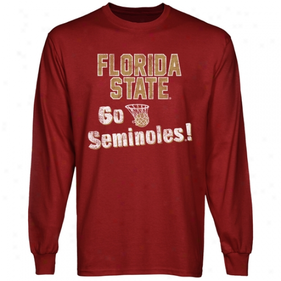 Florida Express  Seminoles Cheering Section Lengthy Sleeve T-shirt - Garnet