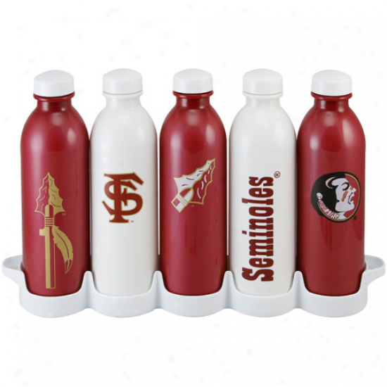 Florida State Seminoles (fsu) 5-pack 16oz. Waterweek Grab & Go Bottle Set