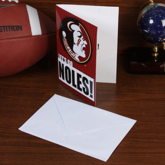 Florida State Seminolees (fsu) 5'' X 7'' Musical Card