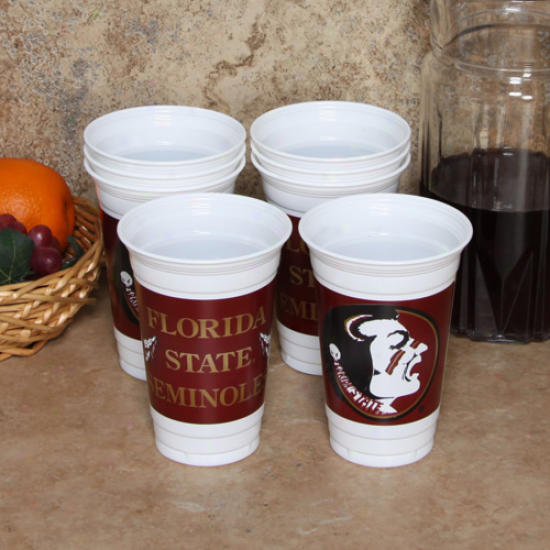 Florida State Seminoles (fsu) 8-pack 20oz. Name & Log0 Plastic Cups