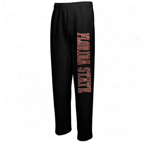 Florida State Seminoles (fsu) Black Classic Strip Pants