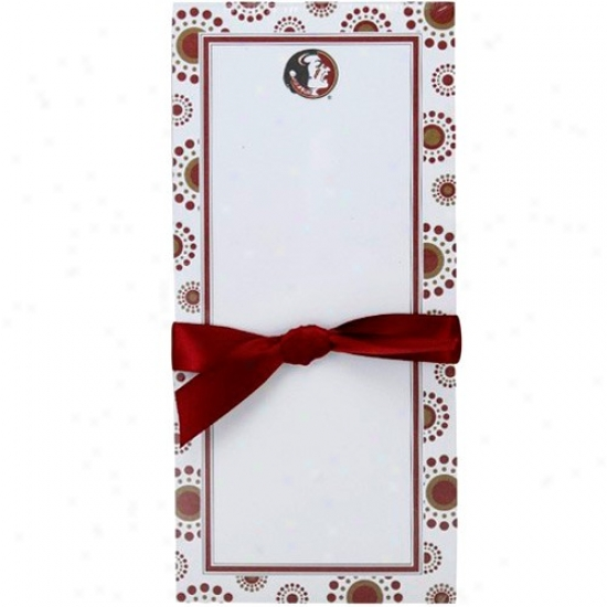 Florida State Seminoles (fsu) Burst Magnetic Notepad
