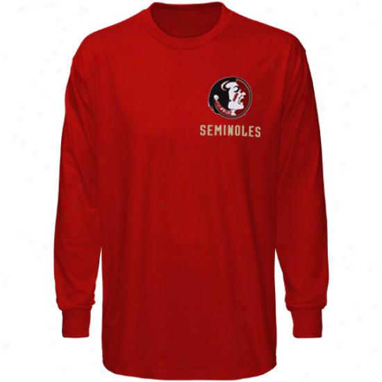 Florida State Seminoles (fsu ) Garnet Keen Lengthy Sleeve T-shirt