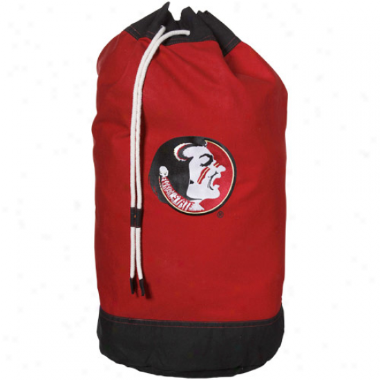 Florida State Seminoless (fsu) Garnet Laundry Bag