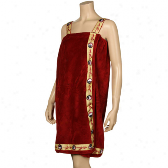 Florida State Seminoles (fsu) Ladies Garnet Bath Wrap