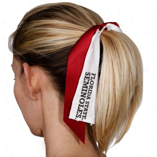 Florida National Seminoles (fsu) Streamer Ponytail Holder