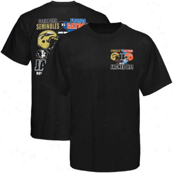 Florida State Seminoles (fsu) Vs. Florida Gators 2011 Game Day Rivalry T-shirt - Black