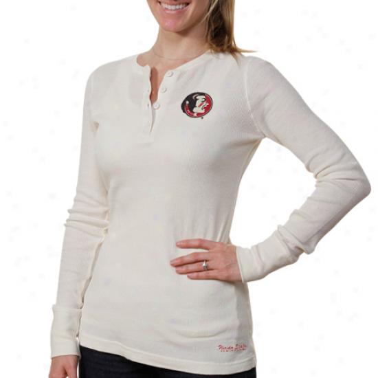 Florida State Seminoles (fsu) Womens Shade Thermal T-shirt - Cream