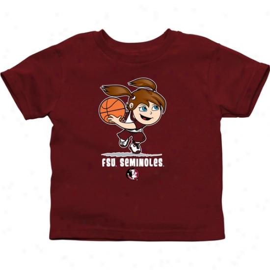 Florida State Seminoles Babe Girls Basketball T-snirt - Garnet