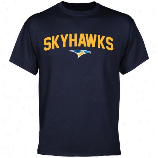 Fort Lewis College Skyhawks Mascot Logo T-shirt - Navy Blue